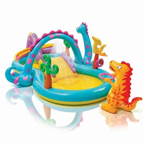 折扣升级!Intex Dinoland 超可爱 恐龙乐园 充气式儿童戏水池 67.63加元包邮!