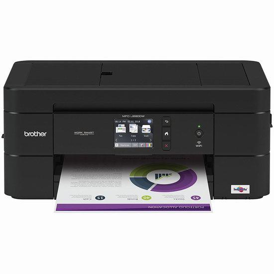Brother MFCJ690DW 四合一 多功能无线彩色喷墨打印机5.6折 89.94加元包邮!
