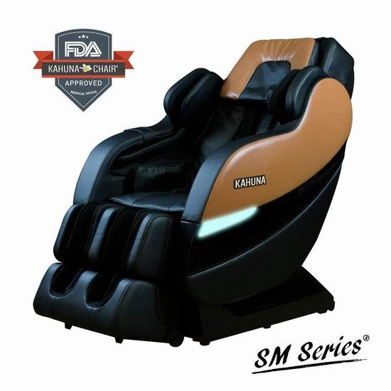 历史新低!Kahuna SM-7300 SL导轨 顶级零重力按摩椅7.1折 3199.99 加元包邮!