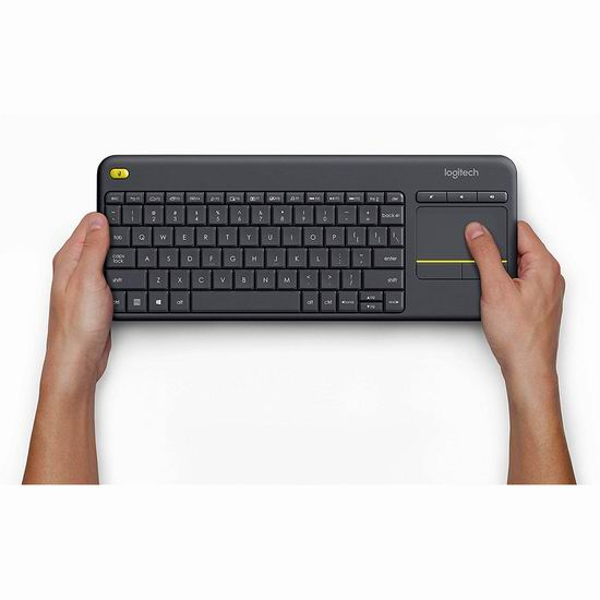 销量冠军!Logitech 罗技 K400 Plus 无线触控键盘7折 34.99加元!