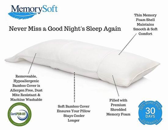 MemorySoft 超豪华记忆海绵 身体支撑枕/孕妇身体枕 44.97加元限量特卖并包邮!