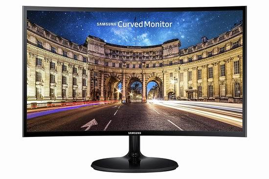 Samsung 三星 LC24F390FHNXZA 24英寸 曲面屏 超薄游戏显示器 6.7折 168加元包邮!