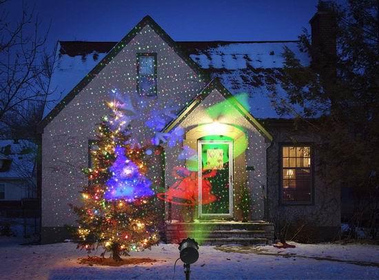 白菜价!历史新低!Greenclick LED激光 圣诞装饰灯2.4折 11.99加元清仓!