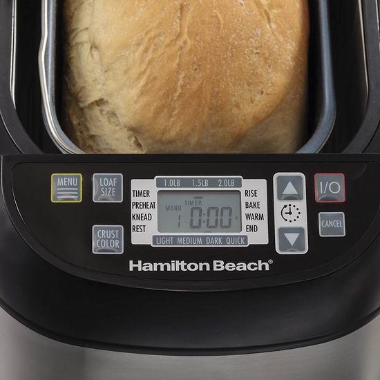 新一代 Hamilton Beach 29885C 2磅立式不锈钢面包机 64.99加元包邮!