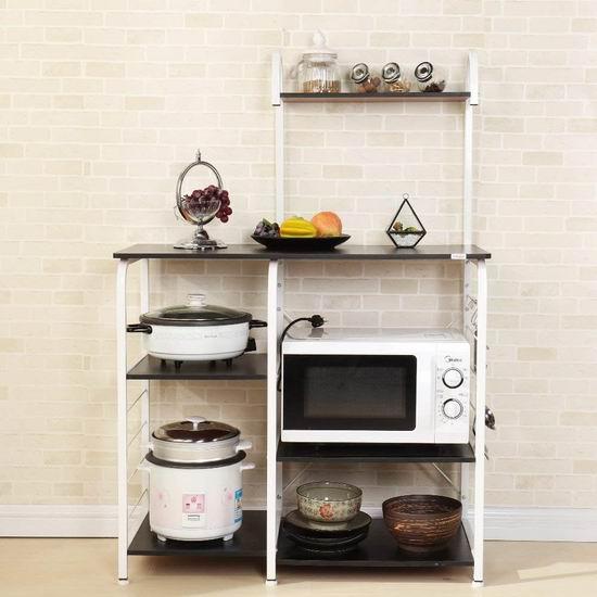 历史新低!Soges 四层厨房收纳桌5.8折 63加元包邮!2色可选!