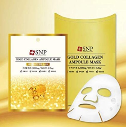 SNP 黄金胶原蛋白抗皱美白安瓶精华面膜 10张 23.9加元