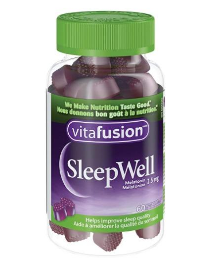 包文婧推荐!Vitafusion SleepWell好睡眠/褪黑素软糖 6.91加元