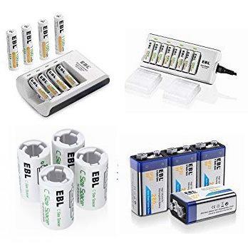 金盒头条:精选多款 EBL 镍氢充电电池、快速充电器等特价销售,低至8.79加元!
