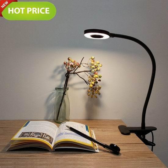 Foneso 夹式LED护眼台灯 16.99加元限量特卖!