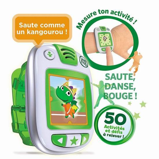 白菜价!历史新低!LeapFrog LeapBand 跳跳蛙儿童益智健康追踪智能手表2.5折 9.99加元清仓!