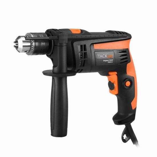 TACKLIFE 120V 6.0安培 双模式 电锤钻 36.97加元限量特卖并包邮!