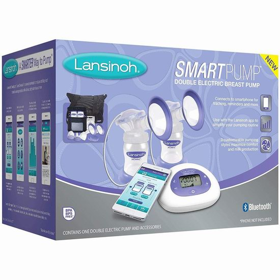历史新低!Lansinoh 兰思诺 Smartpump 蓝牙智能 双边电动吸奶器 189.99加元包邮!比Prime Day会员价还便宜10加元!