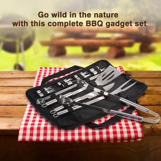 TaoTronics 高品质不锈钢BBQ烧烤工具18件套 14.44加元限量特卖!