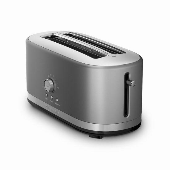 历史最低价!KitchenAid KMT4116CU 超长插槽4片式烤面包机4折 79.99加元包邮!