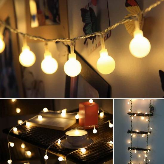 ALOVECO 40 LED 18.7英尺 防水童话装饰灯 18.99加元限量特卖!