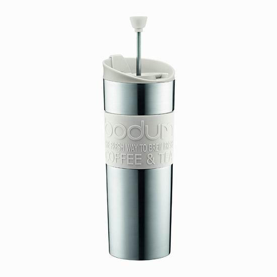 历史新低!Bodum 450毫升 双层不锈钢保温 法压式咖啡杯/茶杯5.4折 18.98加元!