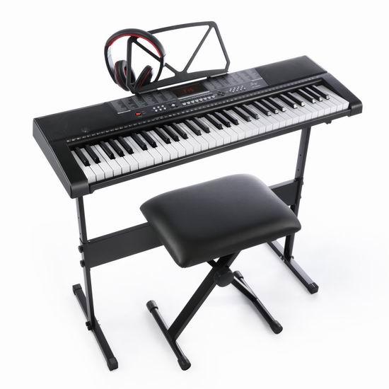 Joy 电子互动教学 61键电子琴+琴凳+耳机套装 138.54加元包邮!