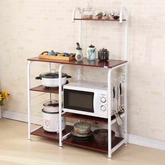 DlandHome 35.4英寸 四层式 厨房收纳桌 75.65-89加元限量特卖并包邮!2色可选!