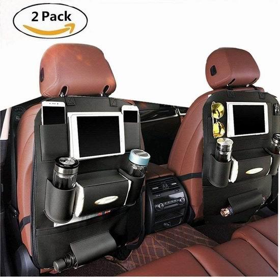 GOGOLO 豪华PU皮 汽车座椅防脏防踢垫2件套 29.74加元限量特卖!