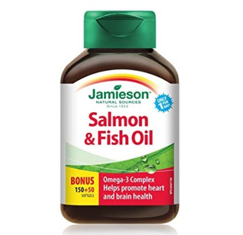 Jamieson 健美生 Omega 3深海鱼油(200粒 )4.3折 6.13加元包邮!