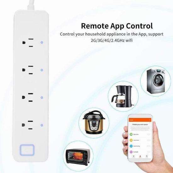 Aneken 4插口 智能WiFi插线板 25.99加元限量特卖!