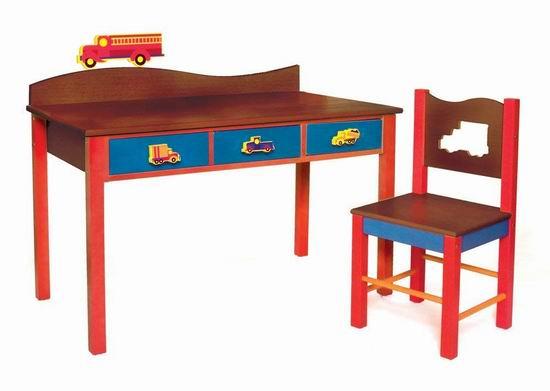 历史新低!Room Magic 汽车主题 实木儿童桌椅套装2折 78.38加元清仓并包邮!