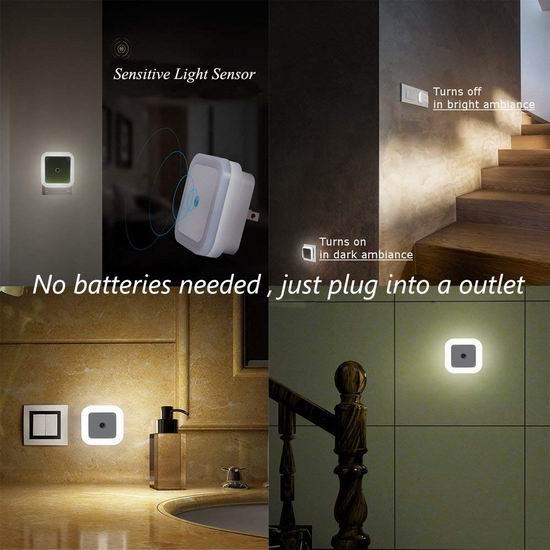 白菜价!历史新低!TINDERALA 光感应 LED节能小夜灯4件套 5.49加元清仓!