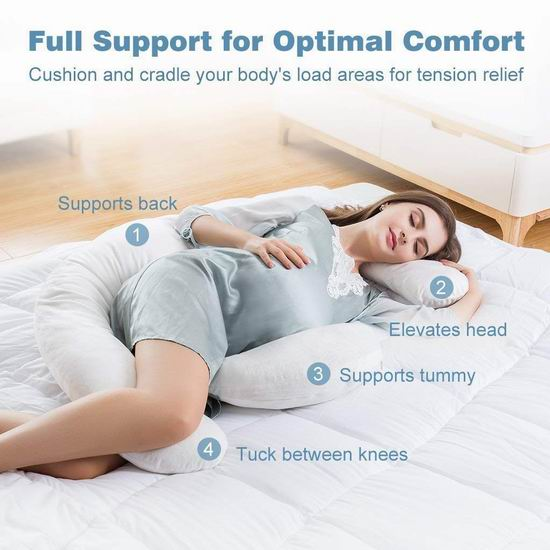 历史新低!LANGRIA 加大号 身体支撑枕/孕妇身体枕 39.99加元包邮!