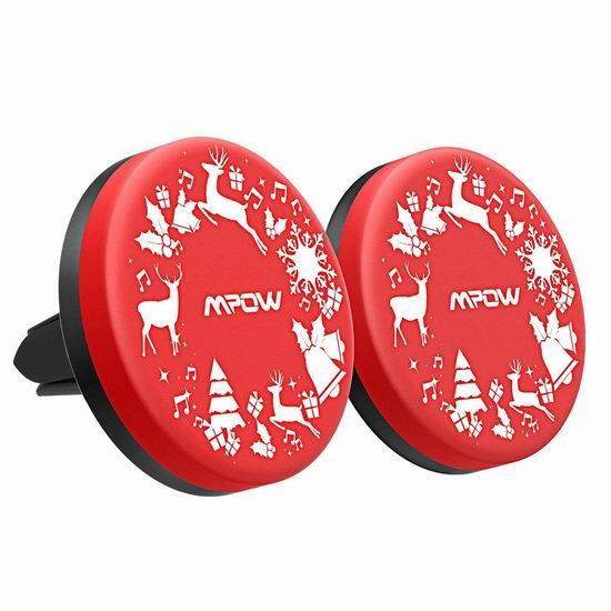 Mpow 圣诞版 磁吸式汽车手机万用座2件套5.5折 5.99加元限量特卖!