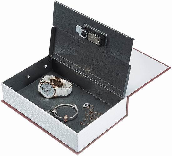 白菜速抢!AmazonBasics 创意英文字典 书本型 金属密码保险箱3折 5.36加元清仓!
