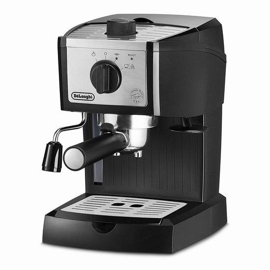 近史低价!Delonghi 德龙 EC155M 泵压式浓缩咖啡机5.9折 99.98加元包邮!
