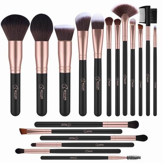 BESTOPE 专业化妆刷18件套 14.44加元,原价 19.99加元
