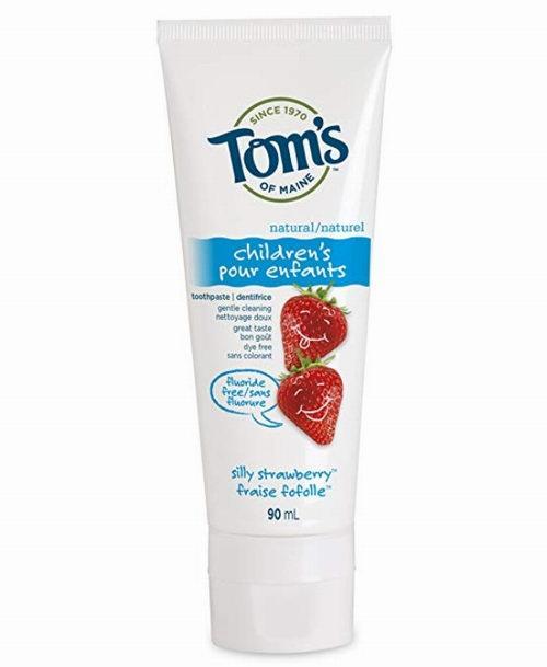 Tom's of Maine不含氟天然草莓味儿童牙膏 4.22加元起特卖!