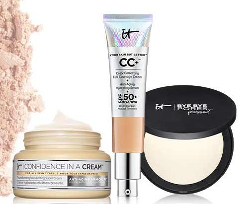 IT Cosmetics 全场8折+满60加元送价值32加元正装睫毛膏,入CC霜、眼部遮瑕、化妆刷