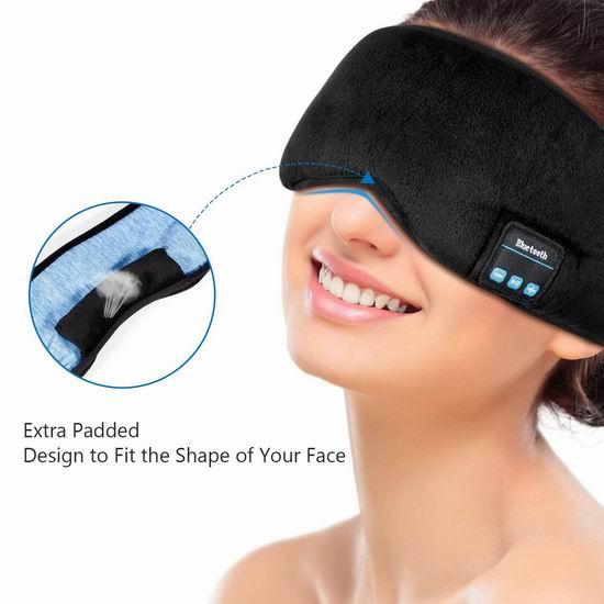 LC-dolida 蓝牙音乐 遮光眼罩 23.79加元限量特卖!