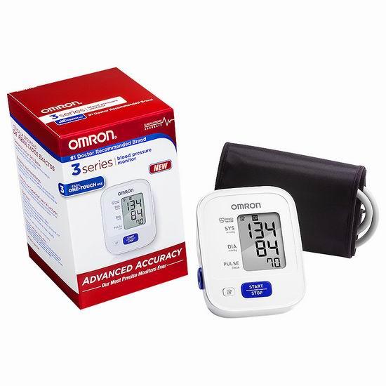 Omron 欧姆龙 3 Series BP710CANN 上臂式血压计 49.99加元包邮!