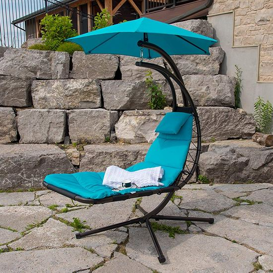 历史新低!Vivere The Original Dream Chair 户外带遮阳伞休闲躺椅4.5折 180.04加元包邮!