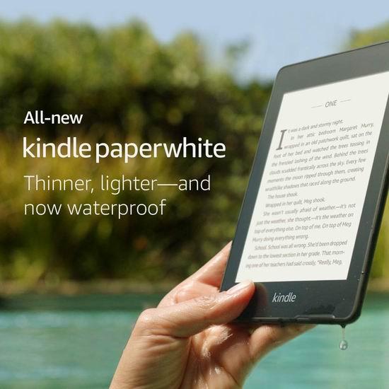全新 Kindle Paperwhite 6寸 防水护眼 电子书阅读器 119.99加元包邮!限时送5加元电子书抵用券!