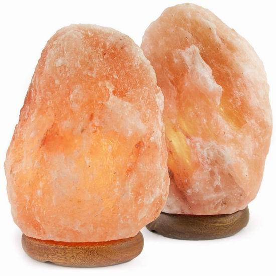 白菜价!历史新低!Crystal Allies Gallery 6-8英寸 天然喜马拉雅 负离子 水晶盐灯2件套3.3折 19.99加元清仓!