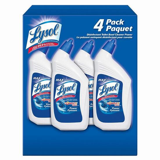Lysol 来苏尔 10倍强力清洁 马桶专用消毒剂/洁厕灵(4 x 946 ml) 10.44加元