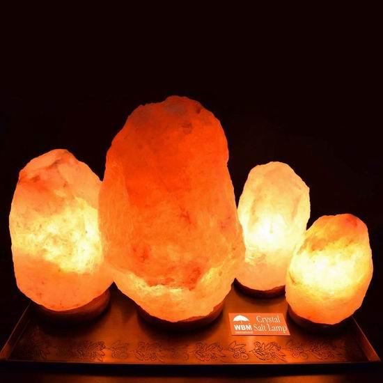 近史低价!WBM International 1003 10.5英寸 喜马拉雅纯天然负离子水晶盐灯 29.16加元!