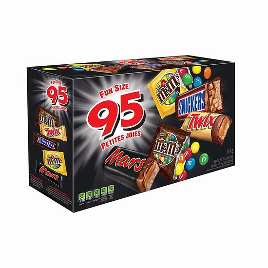 MARS 万圣节巧克力糖果超值装(95个) 12.99加元