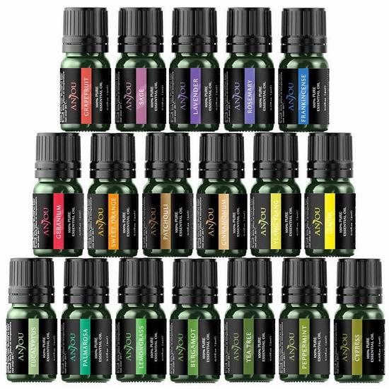 Anjou Essential Oils 纯天然香薰精油18件套 28.89加元限量特卖并包邮!