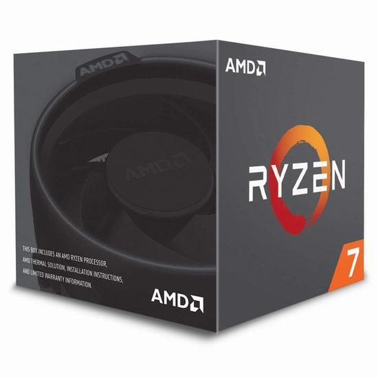 历史新低!AMD 第二代锐龙 7 2700 处理器 276.99加元包邮!带LED幽灵螺旋散热器!