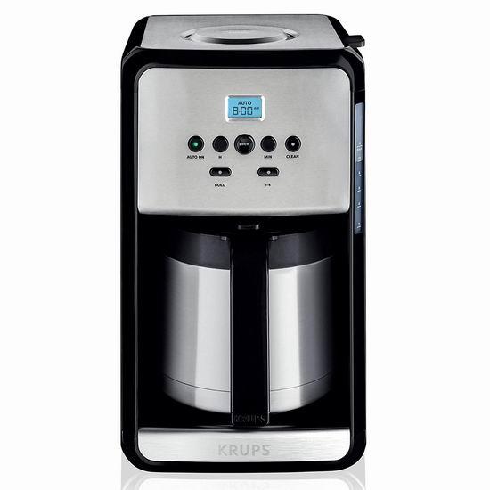 历史新低!KRUPS ET353050 12杯量 可编程滴漏式咖啡机4.6折 60加元包邮!