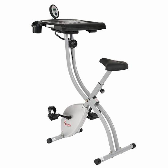 Sunny Health&Fitness SF-BD2701 带大型工作台 静音磁控 健身自行车5.3折 159加元包邮!