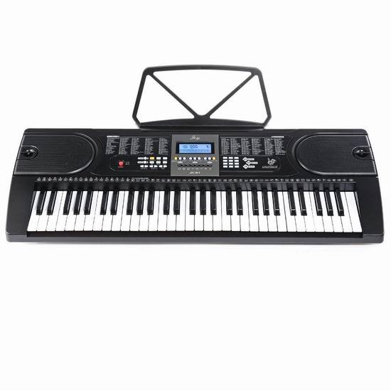 近史低价!Joy JK-61 61键儿童电子琴6.7折 63.64加元包邮!