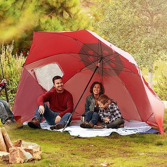 SKLZ Sport Brella 9英尺加大号便携式遮阳棚/遮阳伞 66.96-68.43加元包邮!2色可选!