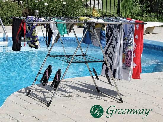 历史新低!Greenway GFR0501SS 加大号 不锈钢晾衣架5折 34.99加元!