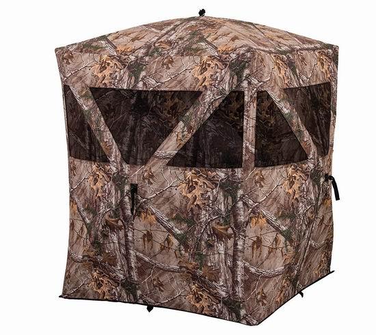 销量冠军!Ameristep 多用途 户外打猎/摄影/观鸟 迷彩狩猎帐篷 124.99加元包邮!